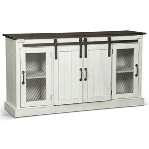 "Cottage 65"" Credenza with Sliding Barn Doors"