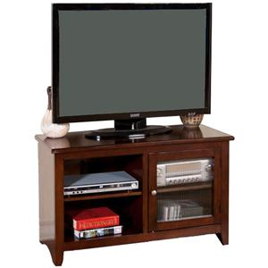 "42"" TV Console with 1 Glass Door"