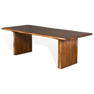 Rustic Dining Table with Live Edge