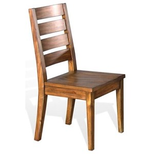 Rustic Ladderback Chair with Wood Seat