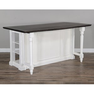 Extendable Kitchen Island with Storage