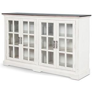 Cottage Server with Adjustable Shelves