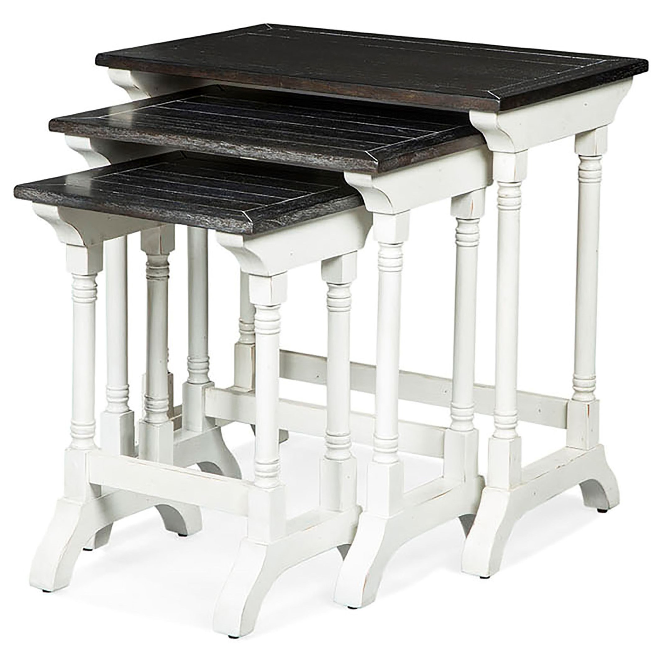 Carriage House Three Piece Nesting Table by Sunny Designs at Fashion Furniture