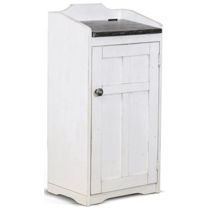 Cottage Style Trash Box with Lift Lid