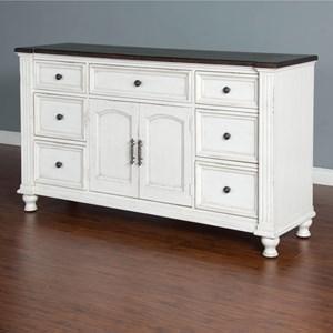 7 Drawer Dresser with 2 Doors