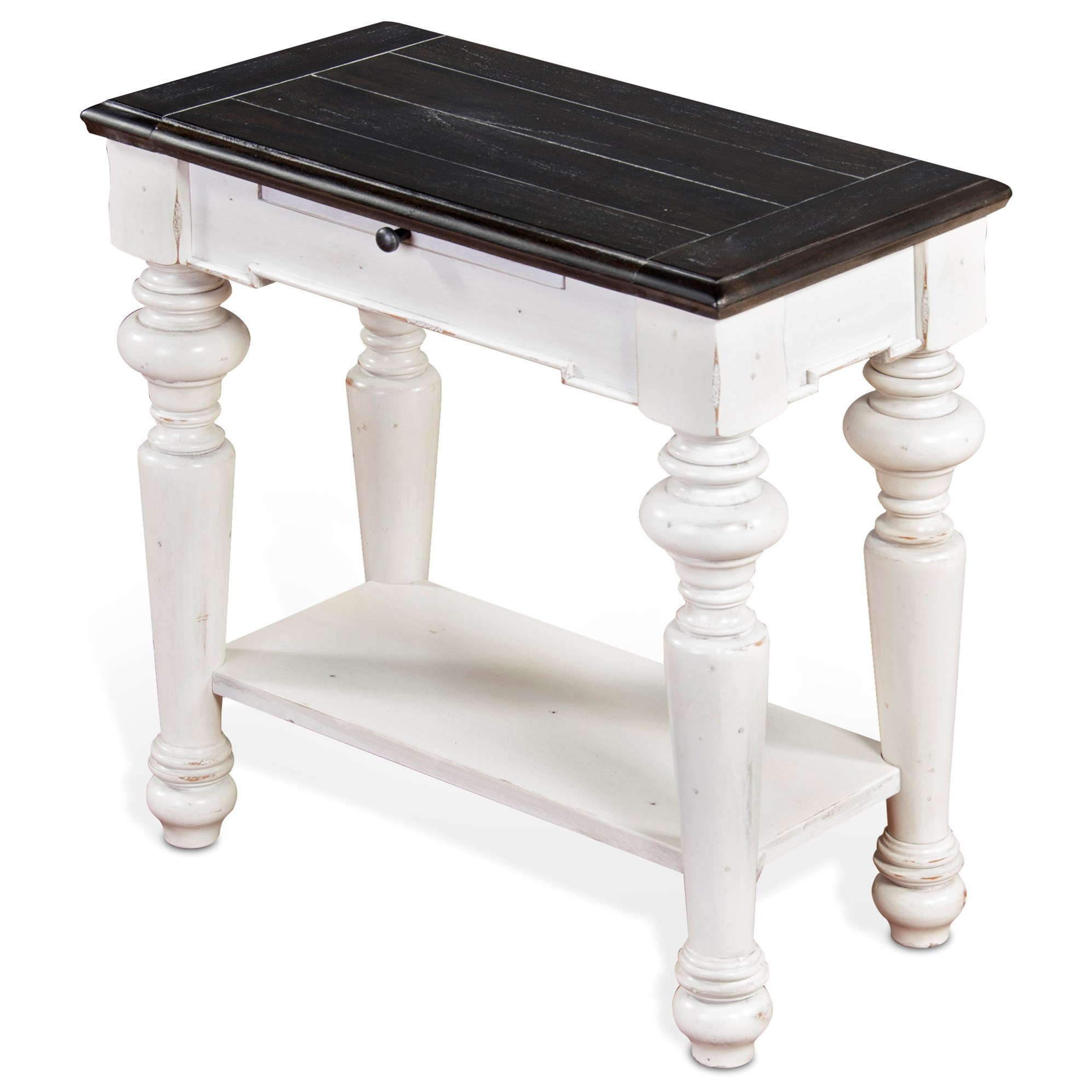 Carriage House Chair Side Table by Sunny Designs at Sparks HomeStore