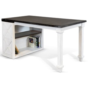Bookcase Desk with 2 Shelves