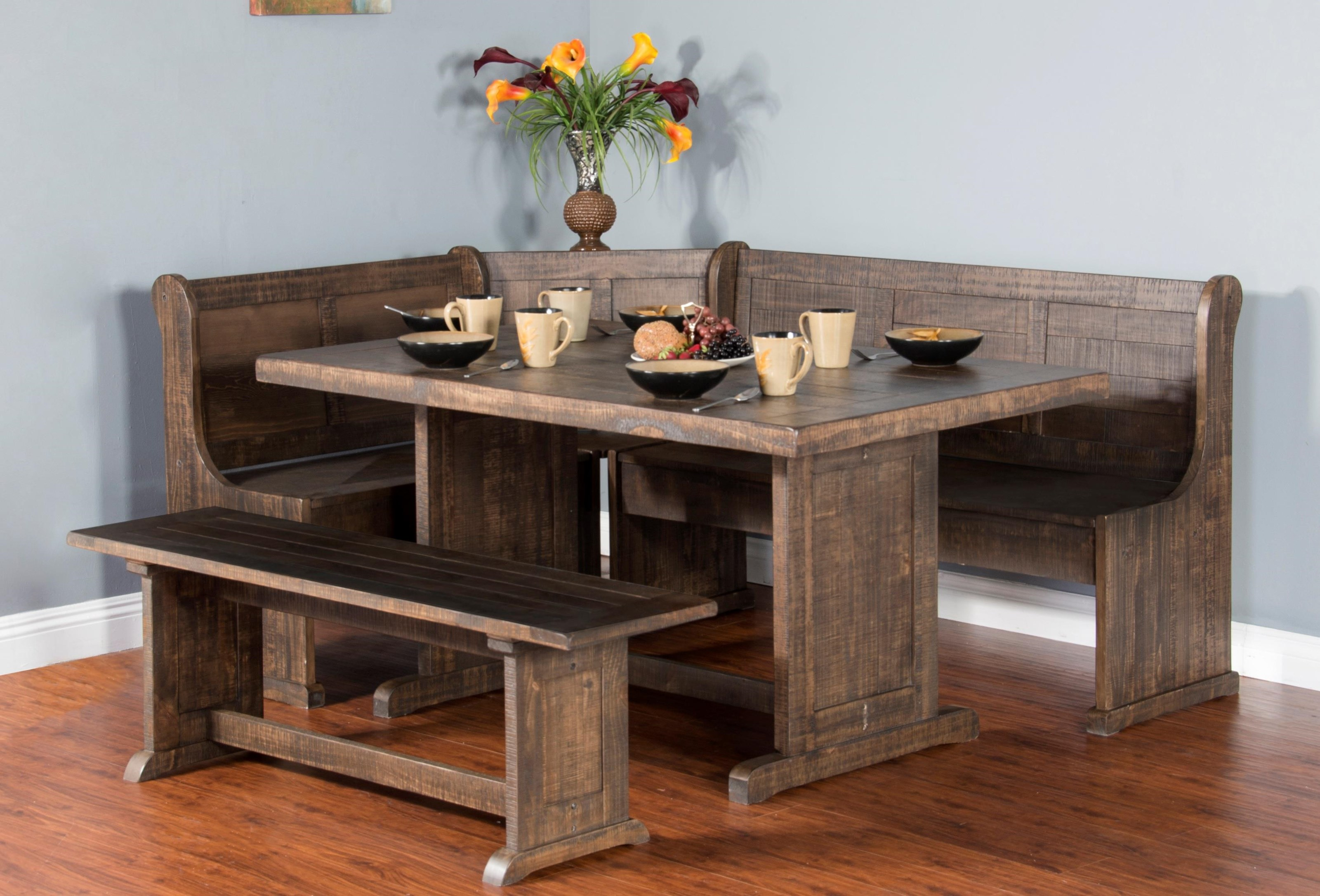 Cottage Place Cottage Place 4-Piece Breakfast Nook by Sunny Designs at Morris Home