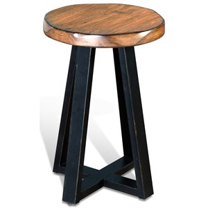 Sunny Designs Cresent Hill Live Edge Etagere Round Table