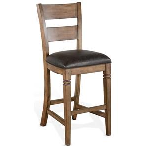 Ladderback Bar Stool w/ Cushion Seat