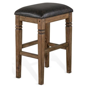 Backless Stool with Cushion Seat