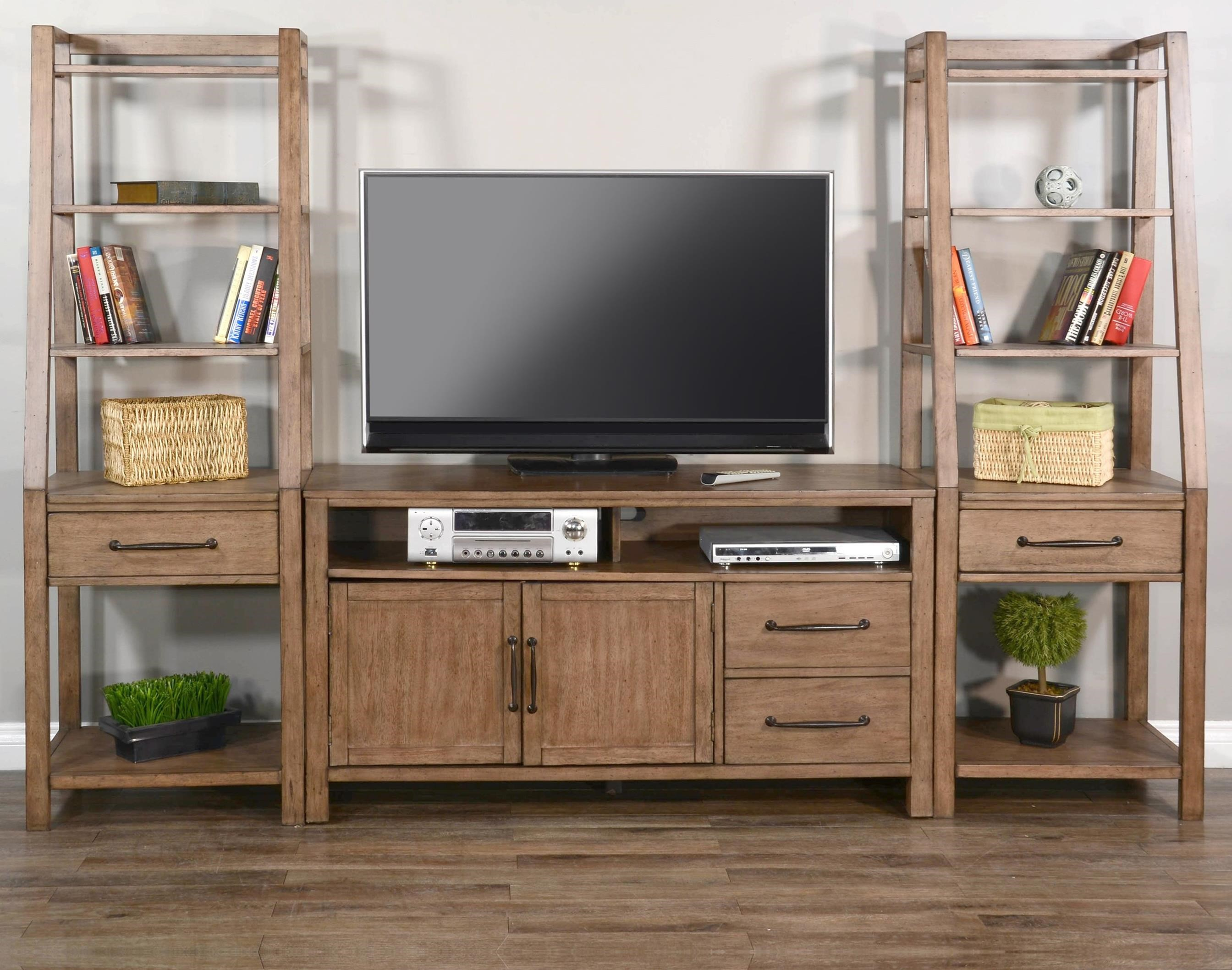"""Doe Valley 56"""" Console & 2 Piers at Sadler's Home Furnishings"""