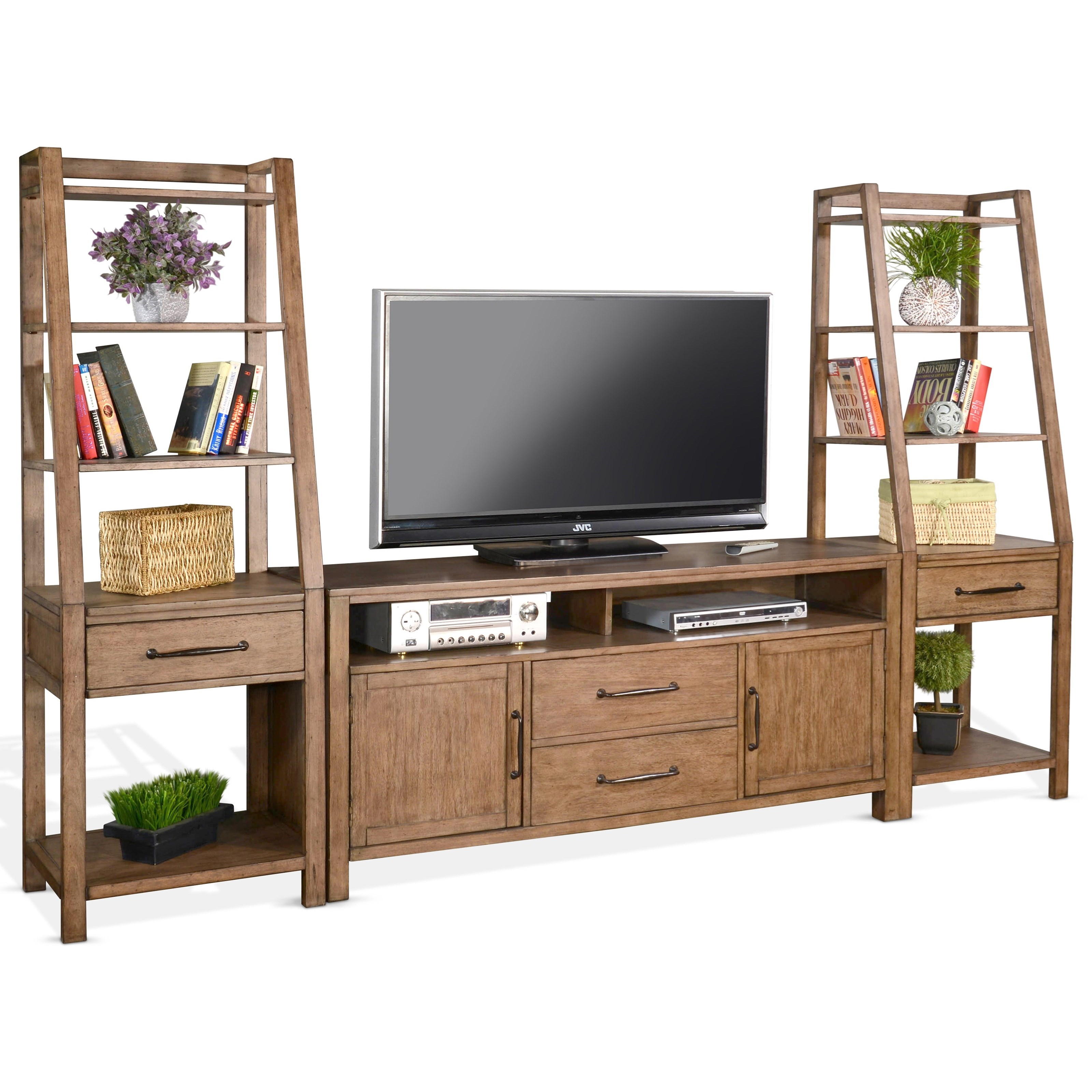 """Doe Valley 66"""" Console & 2 Piers by Sunny Designs at Darvin Furniture"""