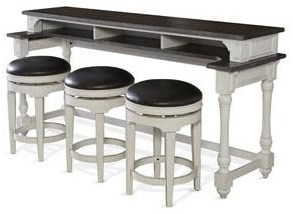 Fairbanks  Fairbanks Bar Table with Swivel Stools by Sunny Designs at Morris Home