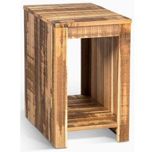 Casual Chairside Table with Open Shelf