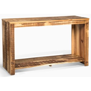 Casual Sofa Table with Open Shelf