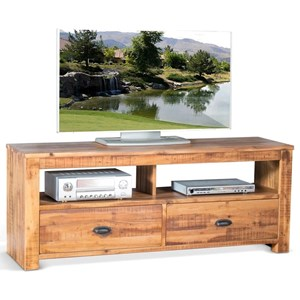 "Casual 64"" TV Console with 2 Drawers"