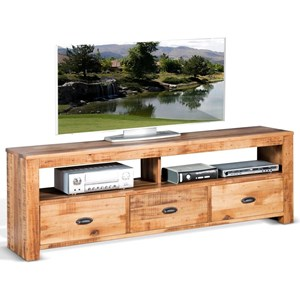 "Casual 74"" TV Console with 3 Drawers"