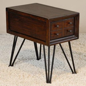 Chair Side Table with Hairpin Legs