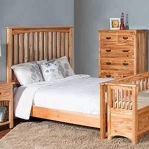 Mission King Panel Bed with Solid Wood Construction
