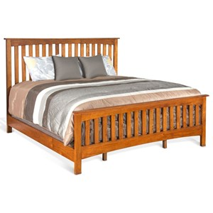 Mission Queen Panel Bed with Solid Wood Construction