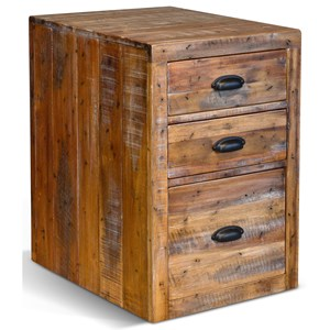 Rustic File Cabinet with 3 Drawers