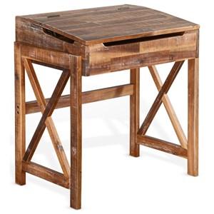 Rustic Flip Top School Desk