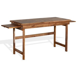 Rustic Writing Desk with 2 Pull-Out Trays