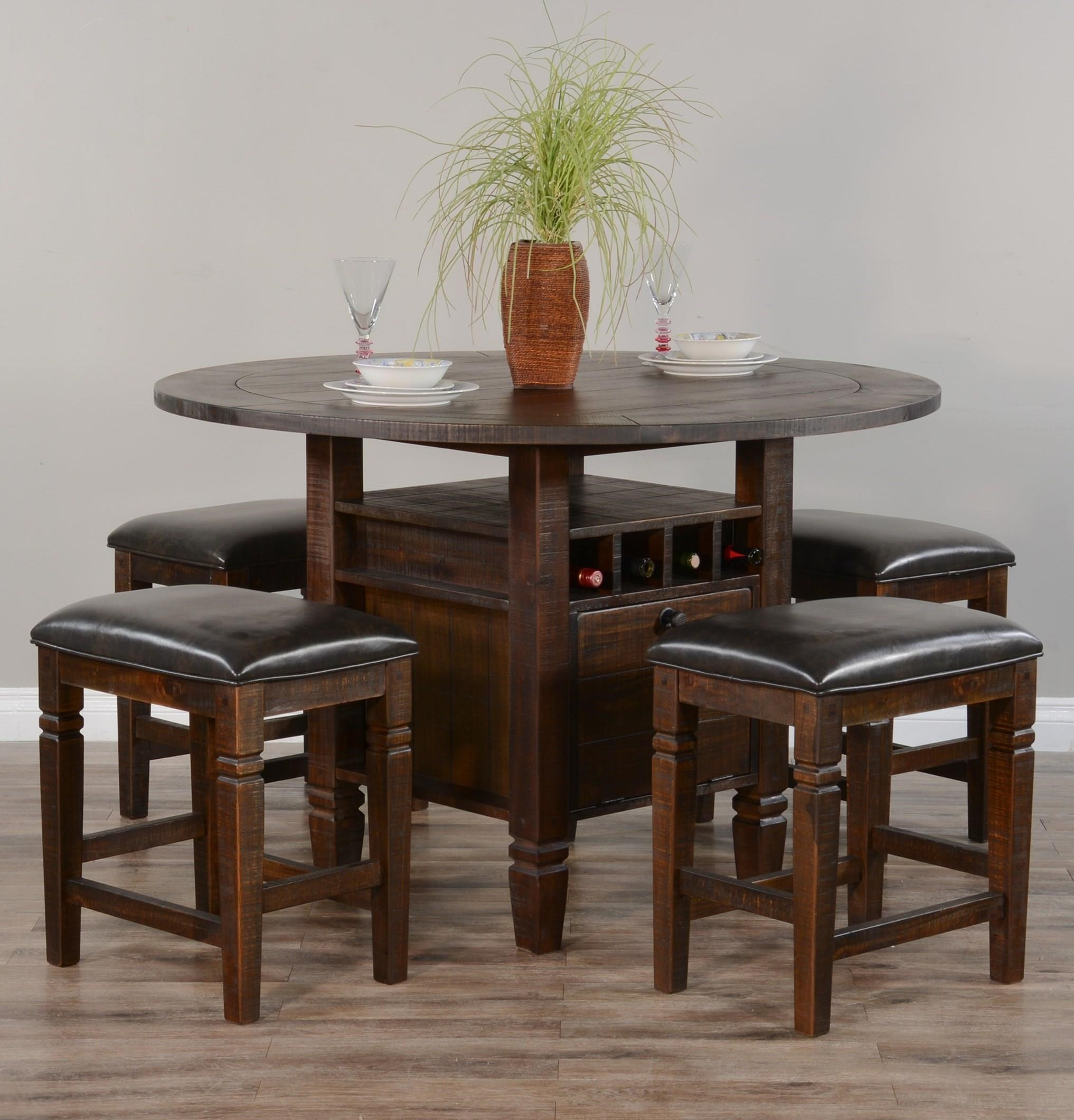 Homestead 2 5-Piece Counter Table Set by Sunny Designs at Sparks HomeStore