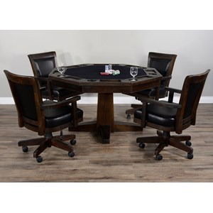 5-Piece Game & Dining Table Set