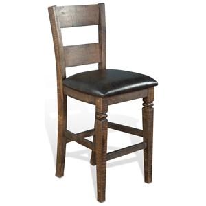 Ladderback Barstool with Cushion Seat