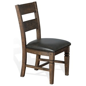 Solid Wood Ladderback Chair with Cushion Seat