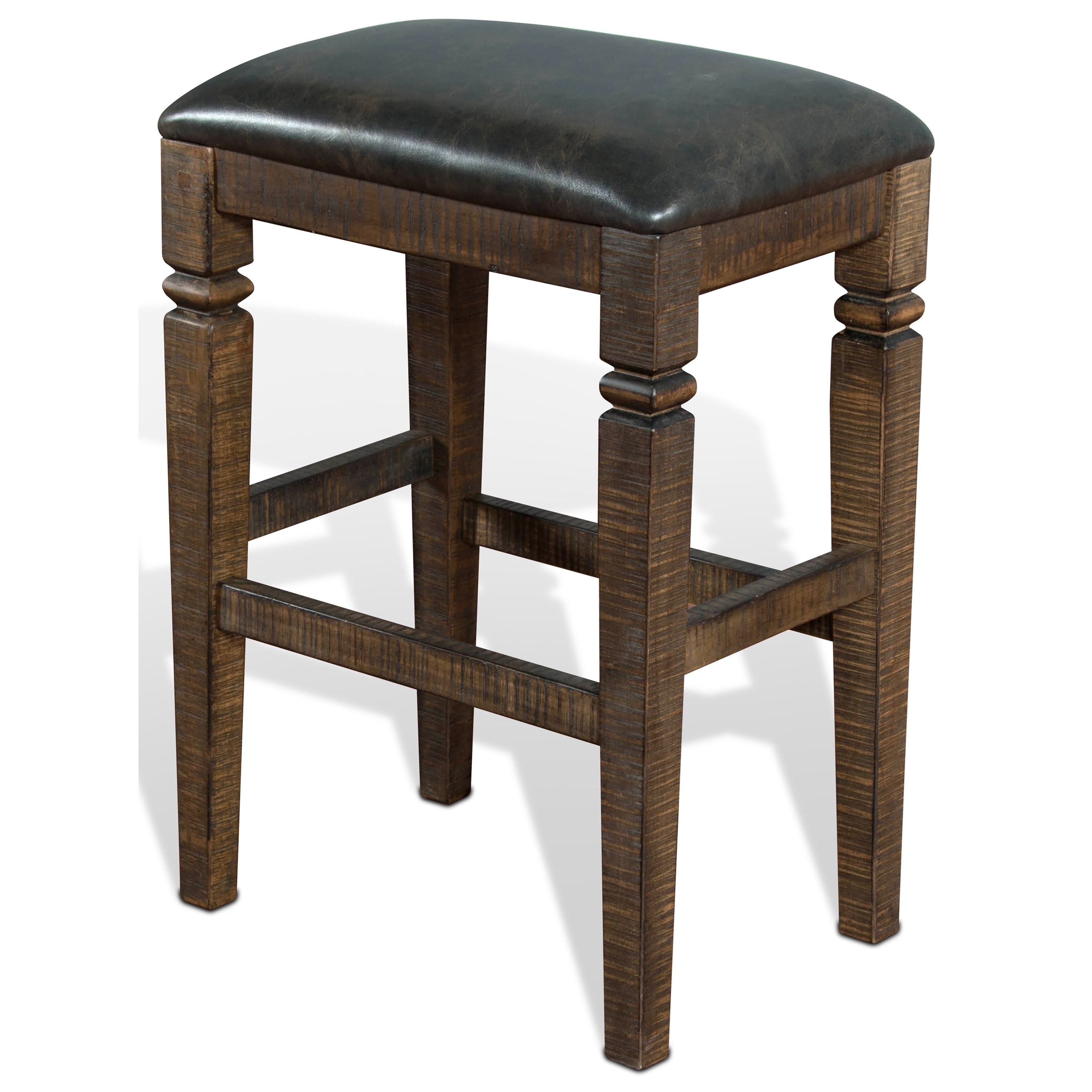 Homestead 2 Backless Stool w/ Cushion Seat by Sunny Designs at Sparks HomeStore