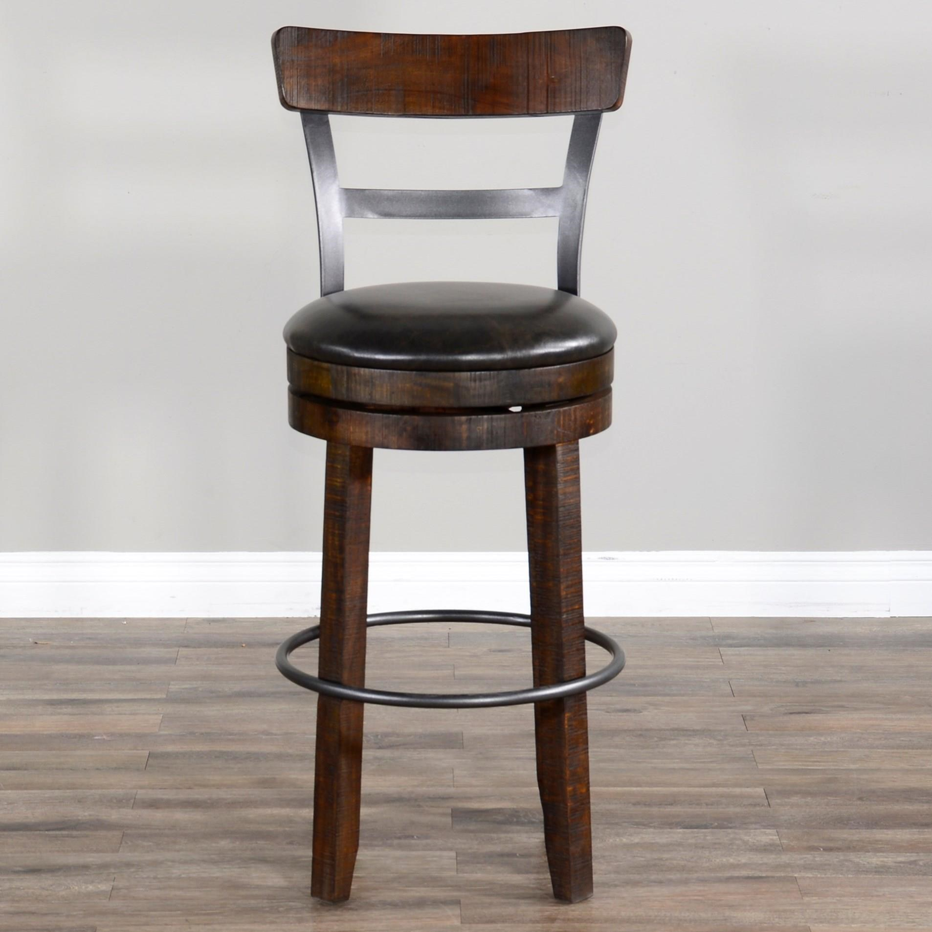 Homestead 2 Barstool by Sunny Designs at Home Furnishings Direct