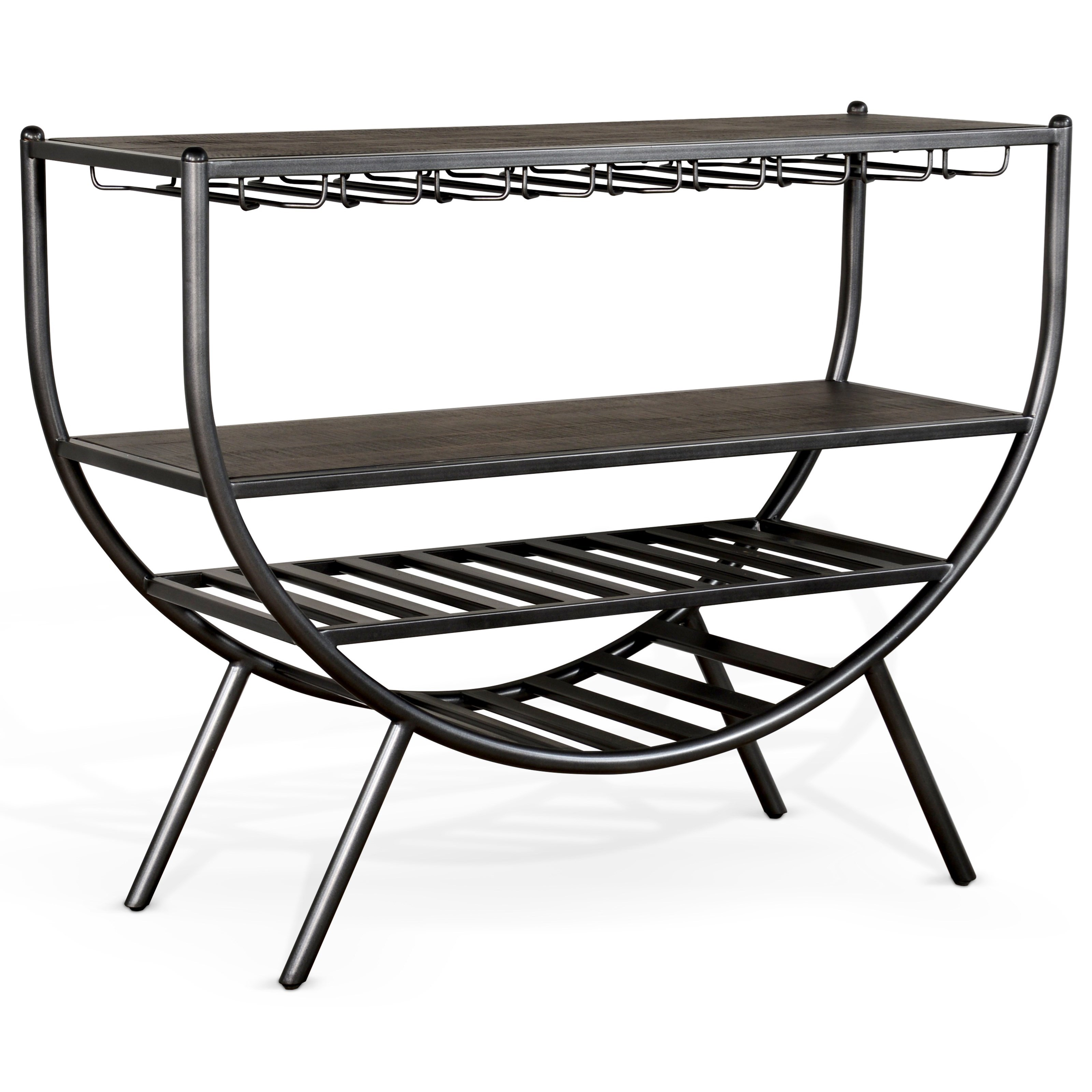 Homestead 2 Wine Rack Server by Sunny Designs at Home Furnishings Direct