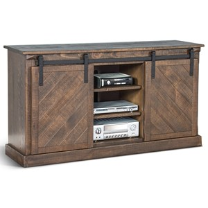 """65"""" TV Console with Sliding Barn Doors"""