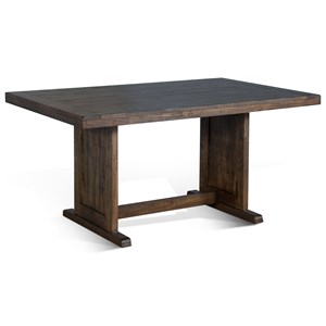 Rustic Style Table with Trestle