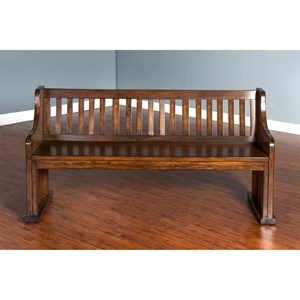 Mission Dining Bench with Slat Back
