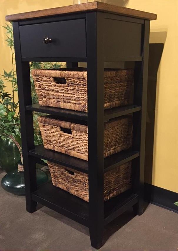Mae Mae Storage Rack W/ Baskets by Sunny Designs at Morris Home