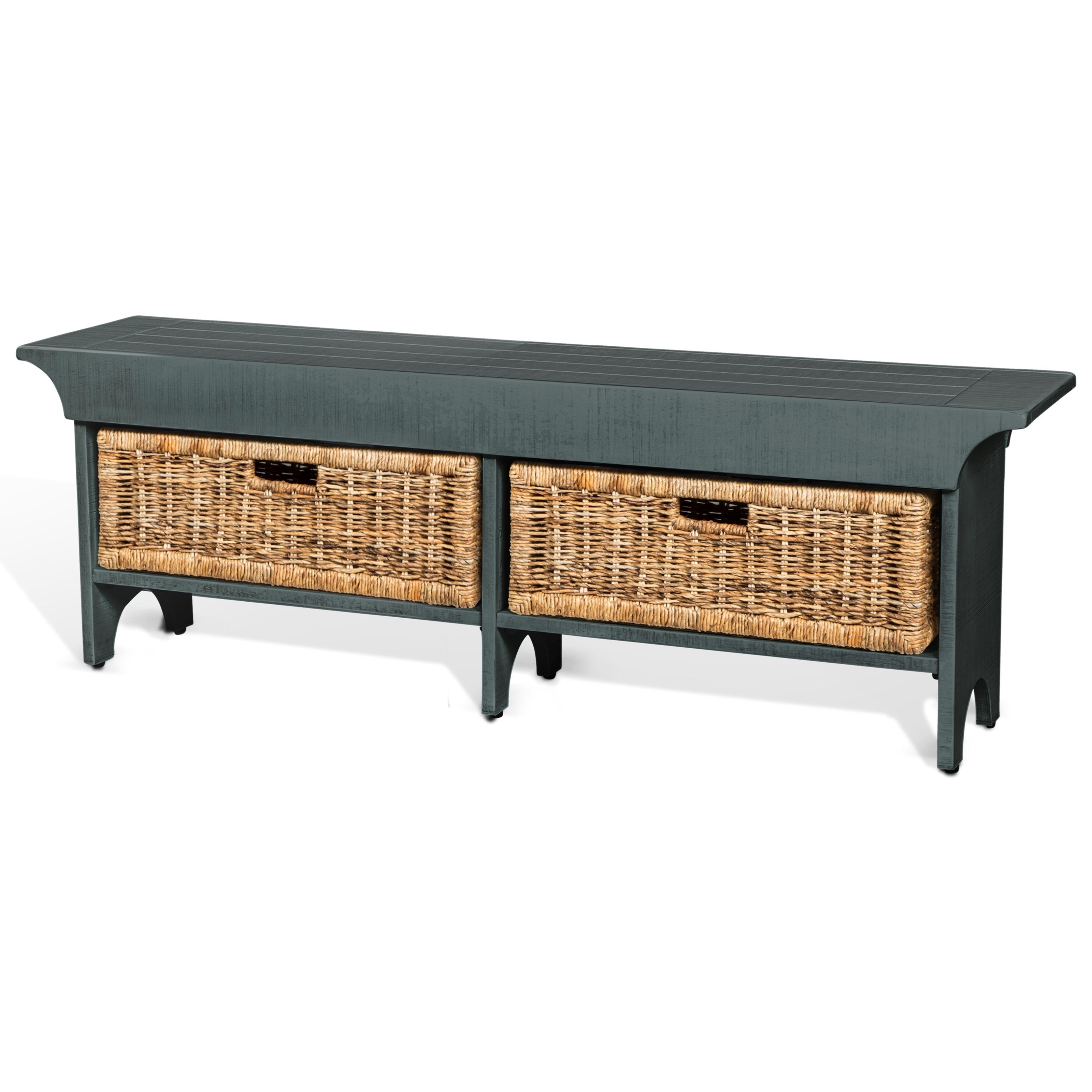 Manor House Storage Bench by Sunny Designs at Home Furnishings Direct