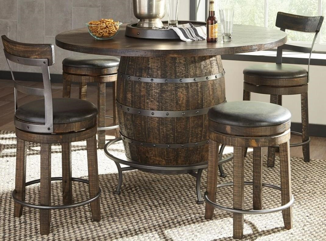Homestead 2 5-Piece Counter Height Pub Table Set by Sunny Designs at Sparks HomeStore