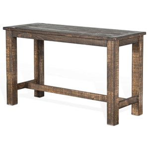Rustic Rectangular Counter Height Table with Distressed Finish