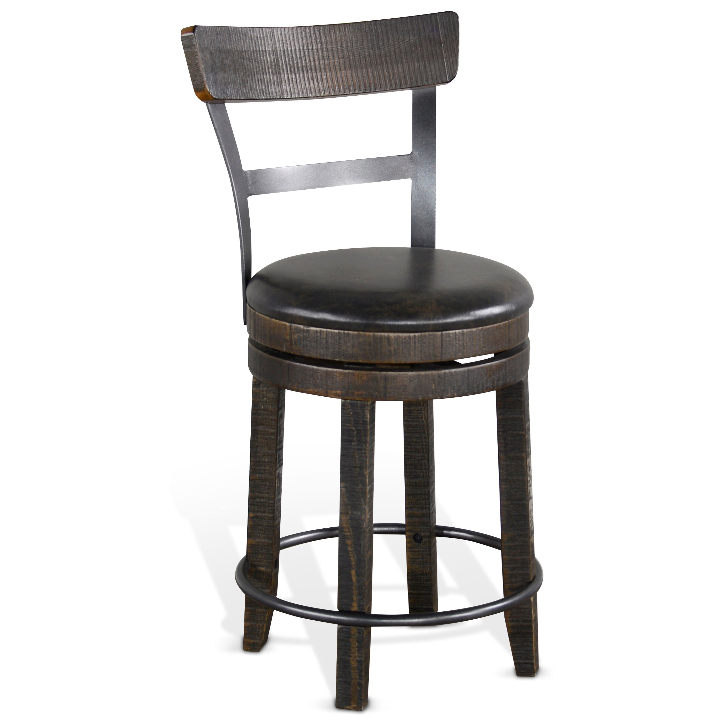 Homestead 2 swivel counter height bar stool by Sunny Designs at Walker's Furniture