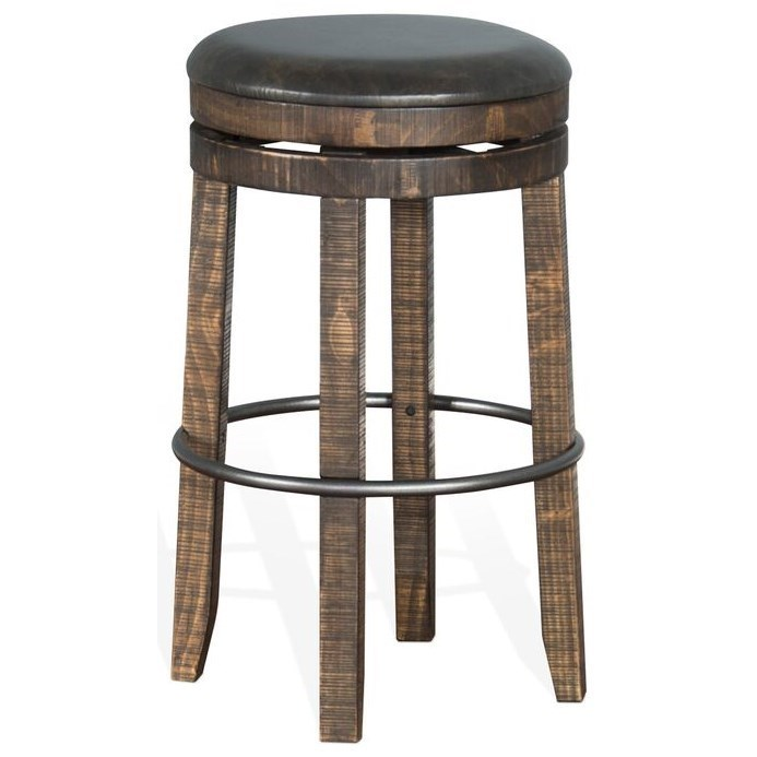Homestead BACKLESS SWIVEL BAR HEIGHT BAR STOOL by Sunny Designs at Walker's Furniture