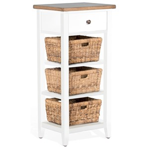 Casual Storage Rack with Baskets