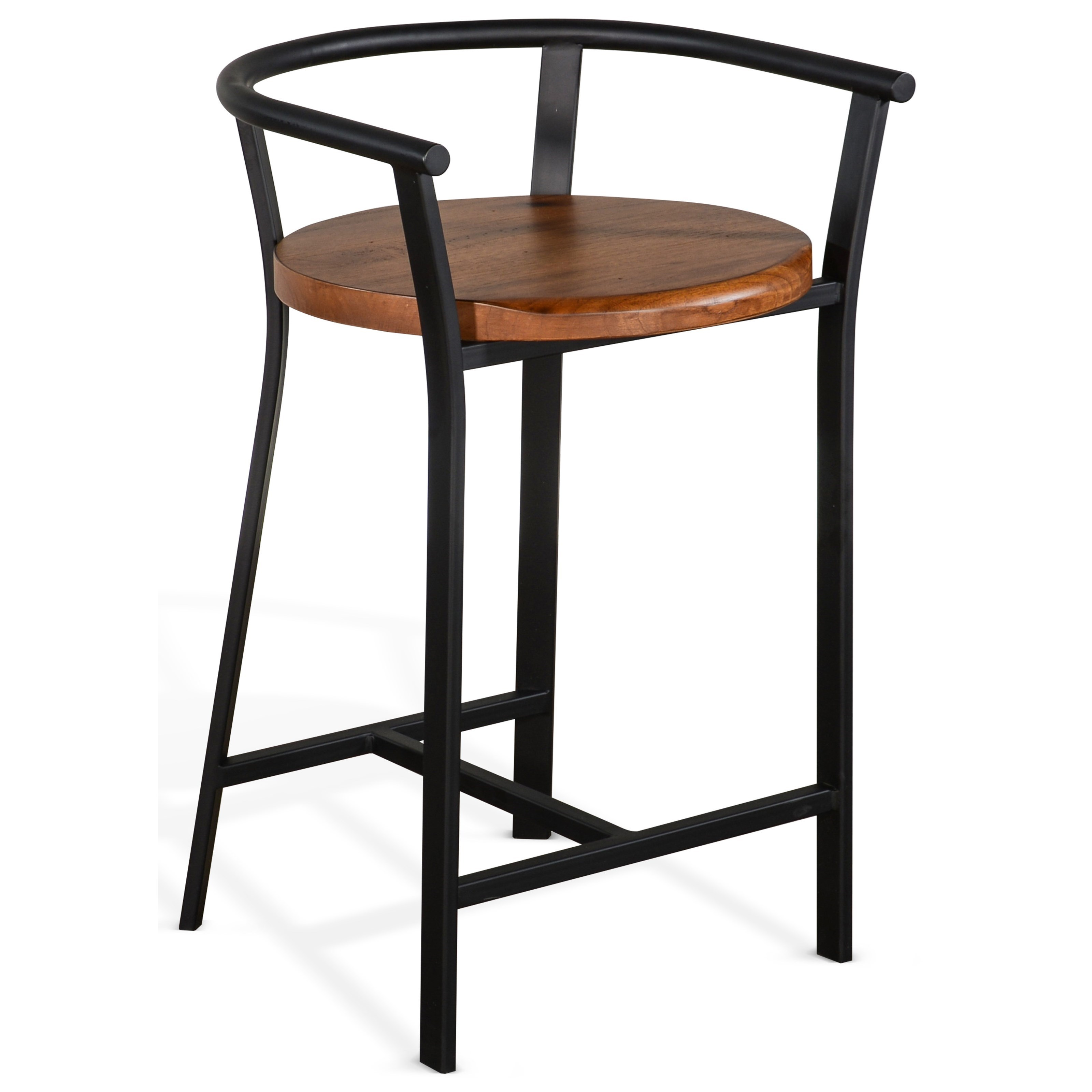 """Metro Flex 24""""H Barstool, Wood Seat by Sunny Designs at Powell's Furniture and Mattress"""