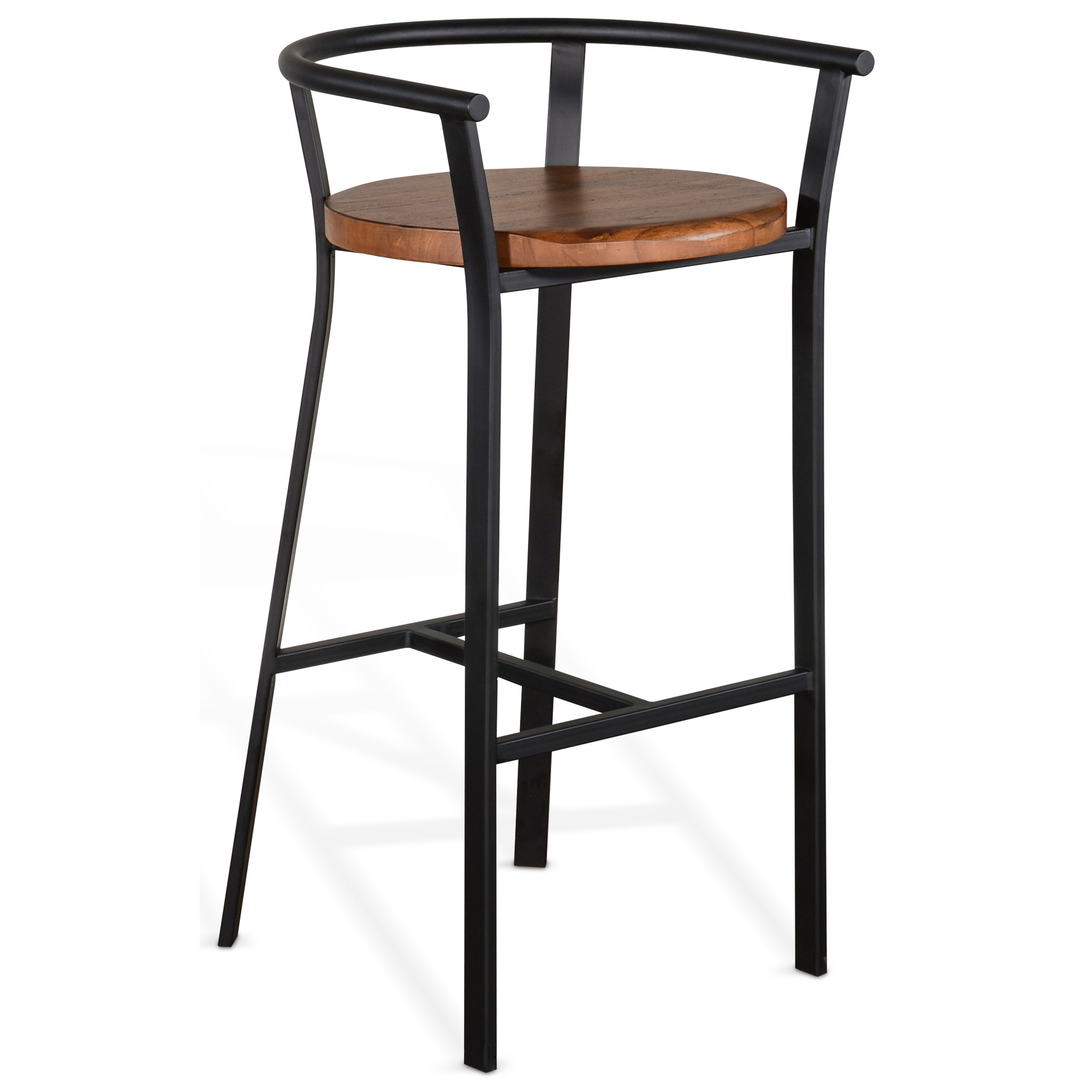 """Metro Flex 30""""H Barstool, Wood Seat by Sunny Designs at Home Furnishings Direct"""