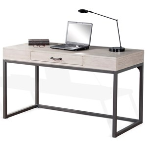 Contemporary Writing Desk with Metal Base