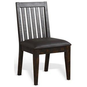 Slatback Chair w/ Cushion Seat