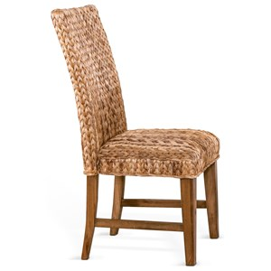 Side Chair with Woven Banana Leaf Seat